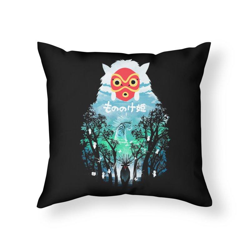 Forest Spirit Home Throw Pillow by dandingeroz's Artist Shop