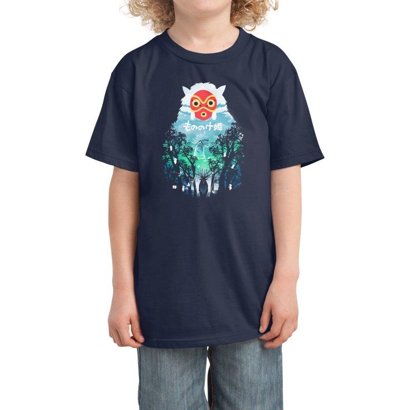 Forest Spirit Kids T-Shirt by dandingeroz's Artist Shop
