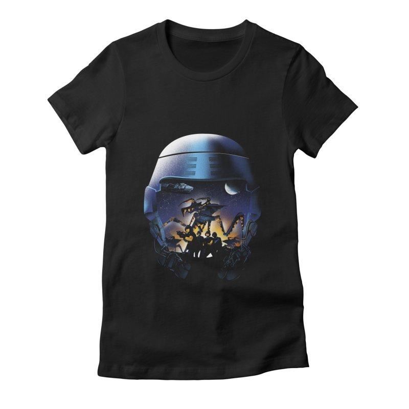 Bug Invasion Women's Fitted T-Shirt by dandingeroz's Artist Shop