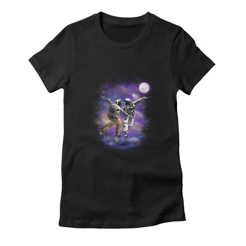 La La Space Women's Fitted T-Shirt by dandingeroz's Artist Shop