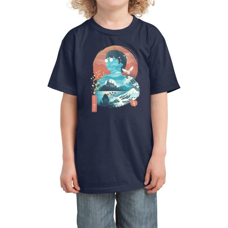 Magical World Edo Kids T-Shirt by dandingeroz's Artist Shop