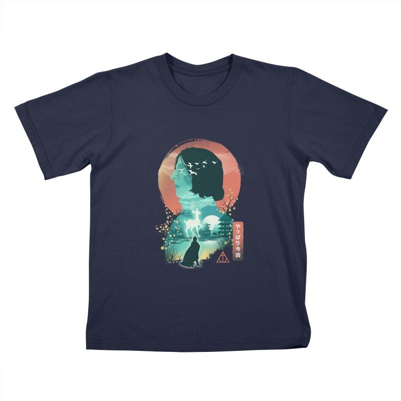 Always Ukiyo E Kids T-Shirt by dandingeroz's Artist Shop