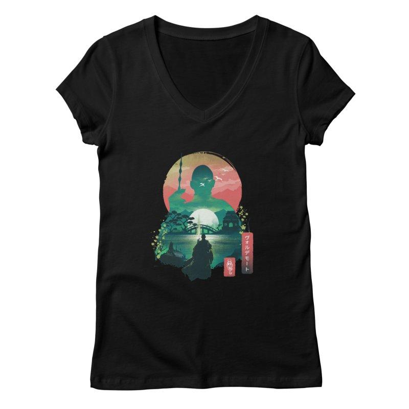 Wizard Ukiyo Women's V-Neck by dandingeroz's Artist Shop