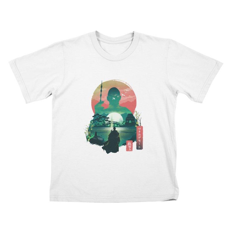 Wizard Ukiyo Kids T-Shirt by dandingeroz's Artist Shop