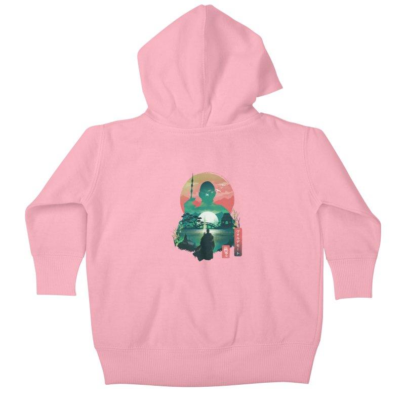 Wizard Ukiyo Kids Baby Zip-Up Hoody by dandingeroz's Artist Shop