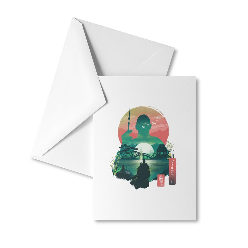 Wizard Ukiyo Accessories Greeting Card by dandingeroz's Artist Shop