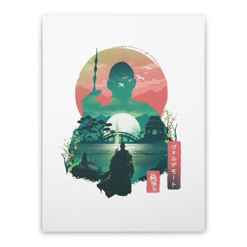 Wizard Ukiyo Home Stretched Canvas by dandingeroz's Artist Shop