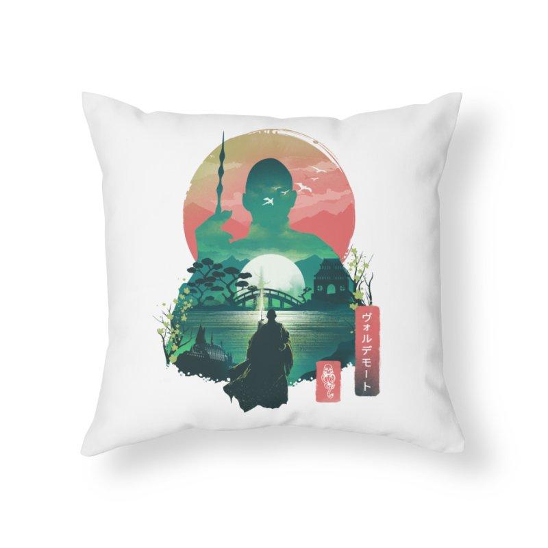 Wizard Ukiyo Home Throw Pillow by dandingeroz's Artist Shop