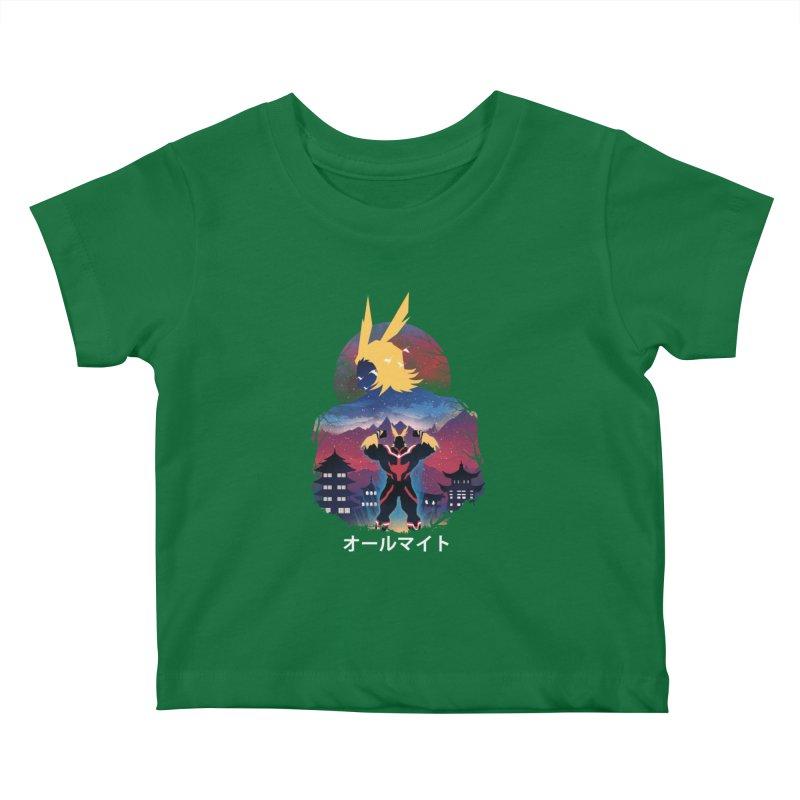 Ulta Plus Sunset Kids Baby T-Shirt by dandingeroz's Artist Shop