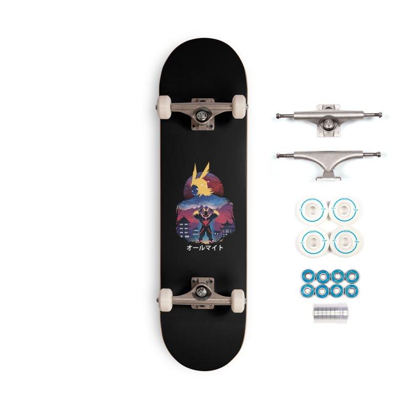 Ulta Plus Sunset Accessories Skateboard by dandingeroz's Artist Shop