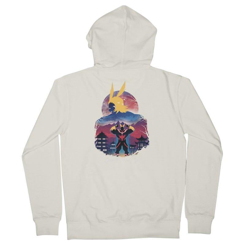 Ulta Plus Sunset Men's Zip-Up Hoody by dandingeroz's Artist Shop