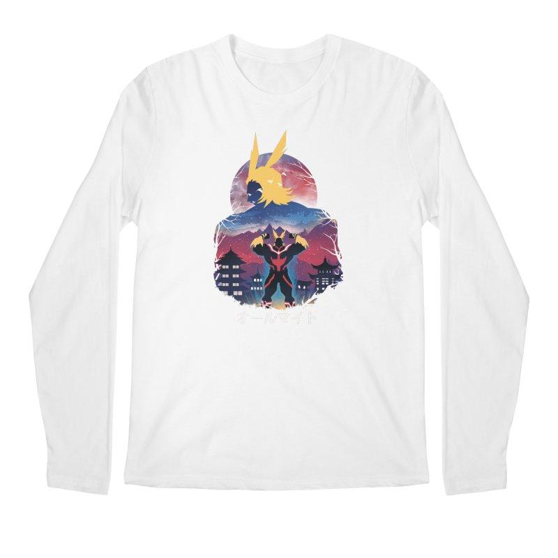 Ulta Plus Sunset Men's Longsleeve T-Shirt by dandingeroz's Artist Shop