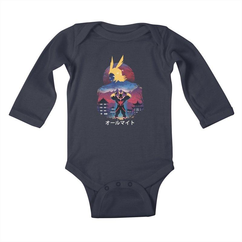 Ulta Plus Sunset Kids Baby Longsleeve Bodysuit by dandingeroz's Artist Shop