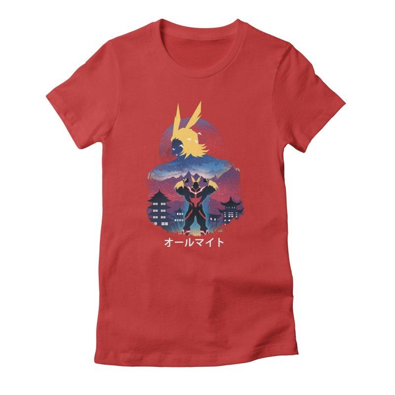 Ulta Plus Sunset Women's T-Shirt by dandingeroz's Artist Shop