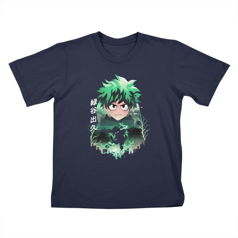 Deku Sunset Kids T-Shirt by dandingeroz's Artist Shop