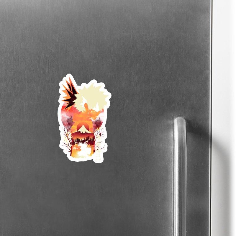 Bakugou Sunset Accessories Magnet by dandingeroz's Artist Shop
