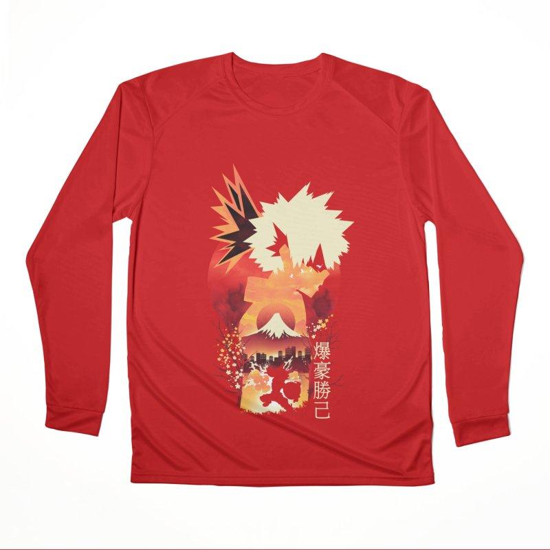 Bakugou Sunset Women's Longsleeve T-Shirt by dandingeroz's Artist Shop