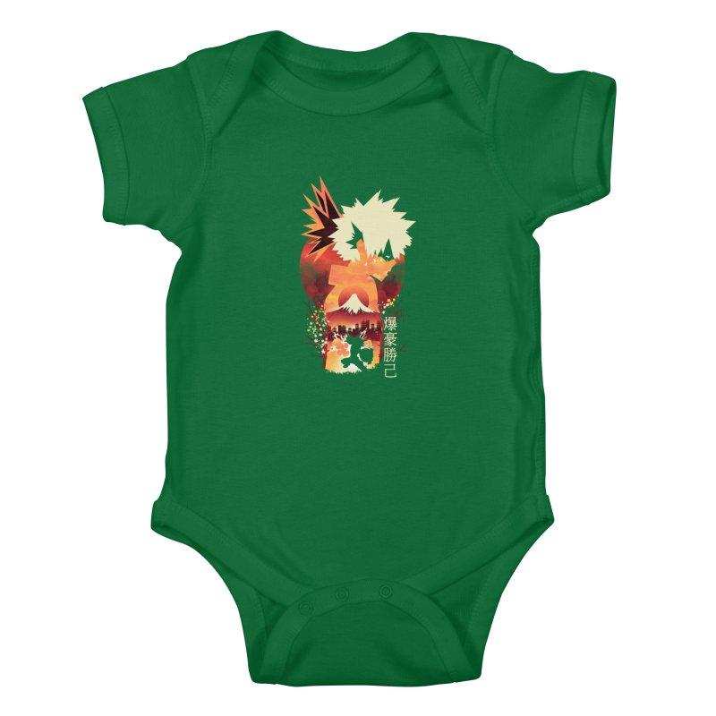 Bakugou Sunset Kids Baby Bodysuit by dandingeroz's Artist Shop