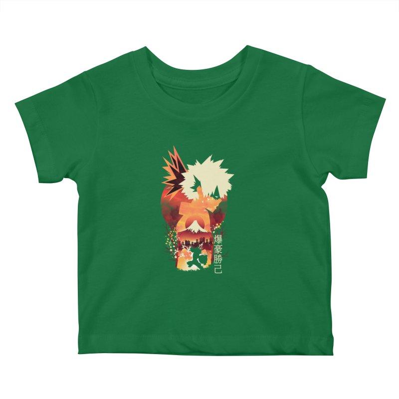 Bakugou Sunset Kids Baby T-Shirt by dandingeroz's Artist Shop
