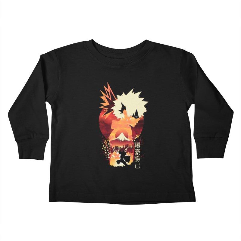 Bakugou Sunset Kids Toddler Longsleeve T-Shirt by dandingeroz's Artist Shop