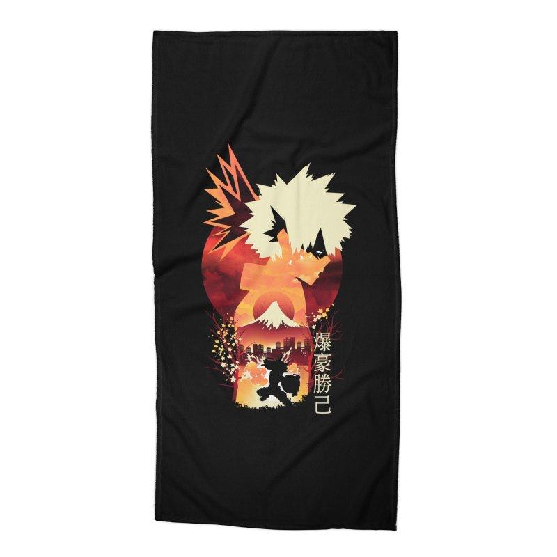 Bakugou Sunset Accessories Beach Towel by dandingeroz's Artist Shop
