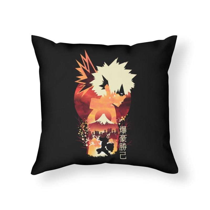Bakugou Sunset Home Throw Pillow by dandingeroz's Artist Shop