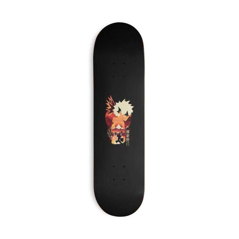 Bakugou Sunset Accessories Skateboard by dandingeroz's Artist Shop