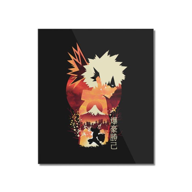 Bakugou Sunset Home Mounted Acrylic Print by dandingeroz's Artist Shop