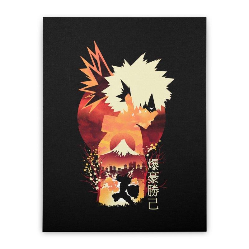 Bakugou Sunset Home Stretched Canvas by dandingeroz's Artist Shop