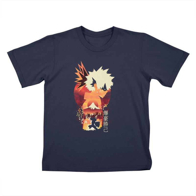 Bakugou Sunset Kids T-Shirt by dandingeroz's Artist Shop