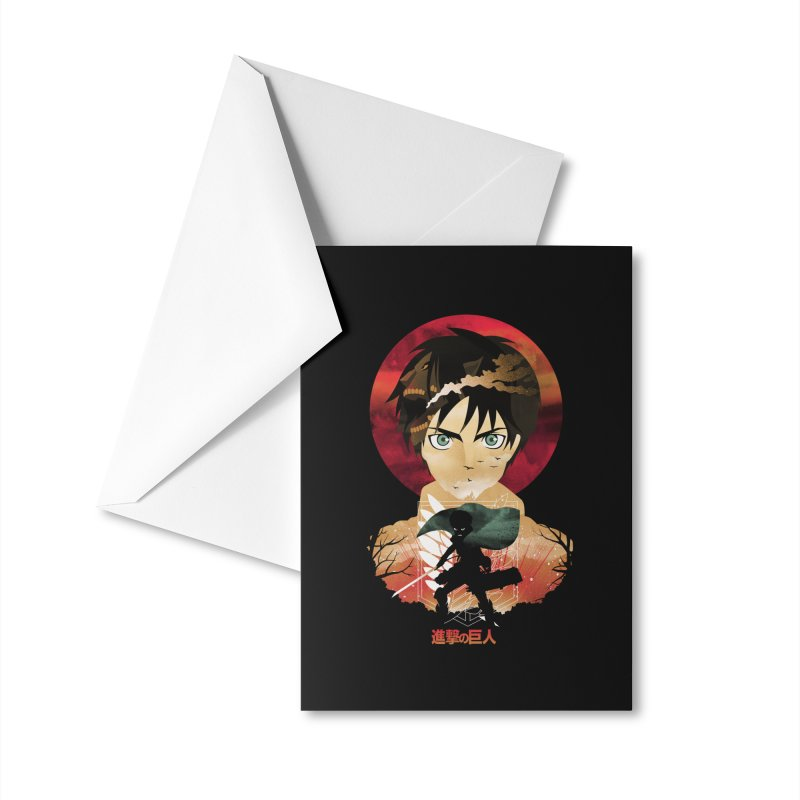 Eren Sunset Accessories Greeting Card by dandingeroz's Artist Shop