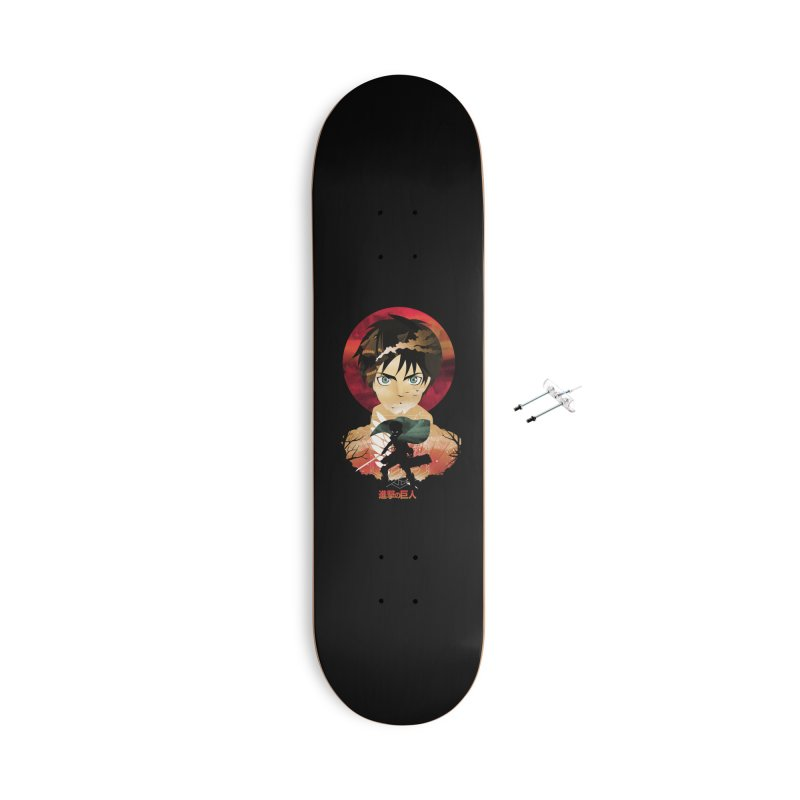 Eren Sunset Accessories Skateboard by dandingeroz's Artist Shop