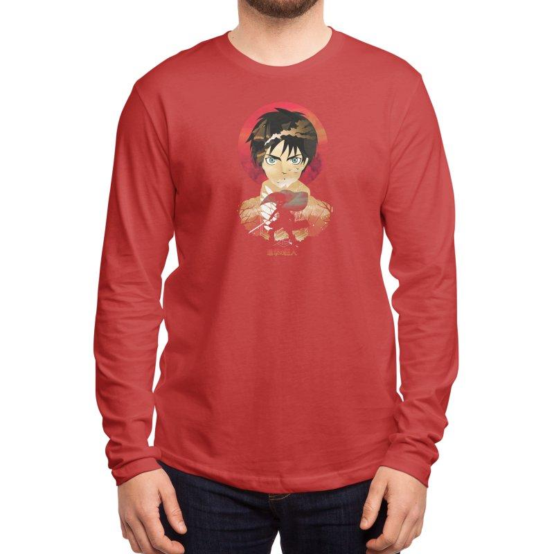Eren Sunset Men's Longsleeve T-Shirt by dandingeroz's Artist Shop