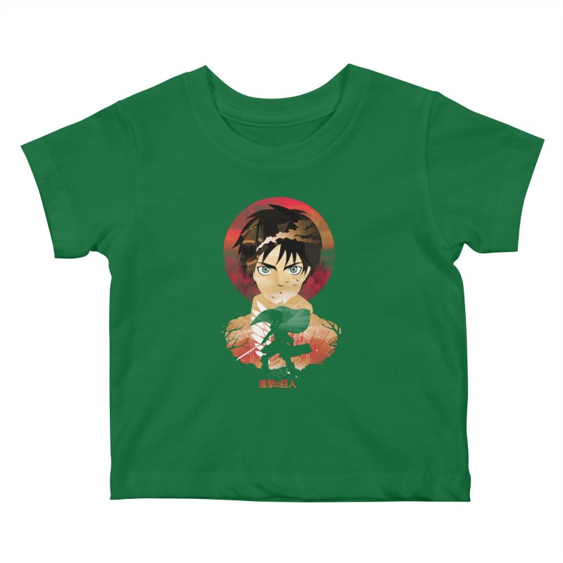 Eren Sunset Kids Baby T-Shirt by dandingeroz's Artist Shop