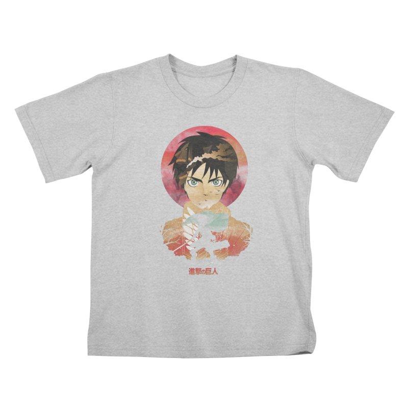 Eren Sunset Kids T-Shirt by dandingeroz's Artist Shop