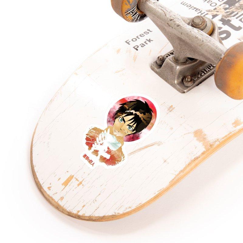 Eren Sunset Accessories Sticker by dandingeroz's Artist Shop