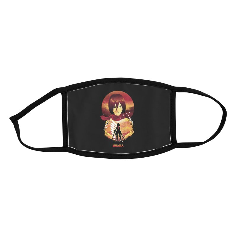 MIkasa Sunset Accessories Face Mask by dandingeroz's Artist Shop
