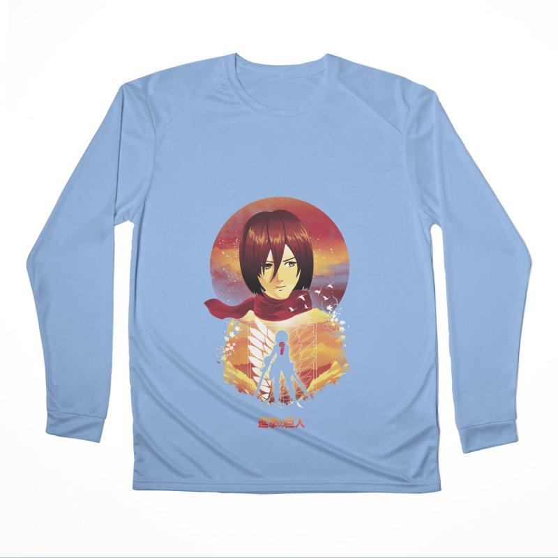 MIkasa Sunset Women's Longsleeve T-Shirt by dandingeroz's Artist Shop