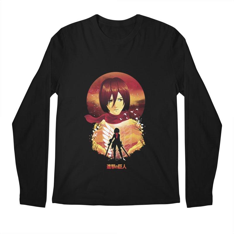 MIkasa Sunset Men's Longsleeve T-Shirt by dandingeroz's Artist Shop