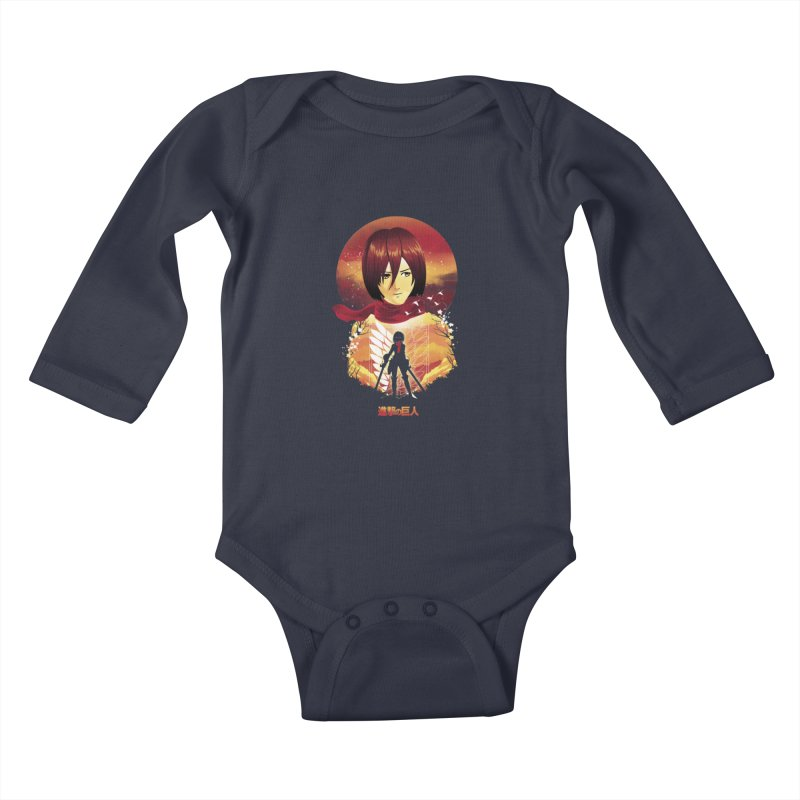 MIkasa Sunset Kids Baby Longsleeve Bodysuit by dandingeroz's Artist Shop