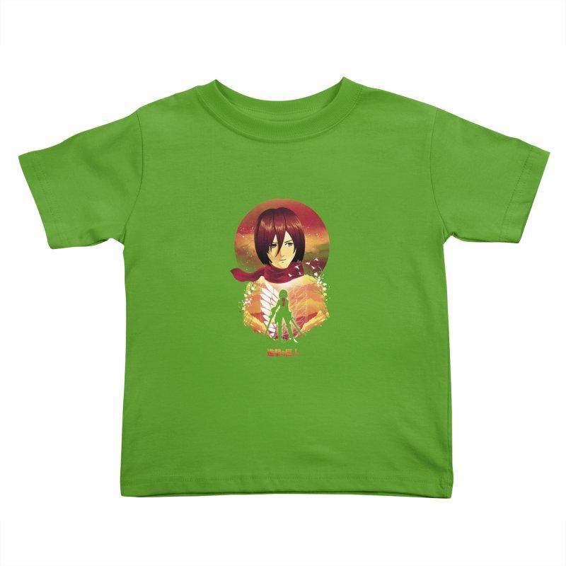 MIkasa Sunset Kids Toddler T-Shirt by dandingeroz's Artist Shop