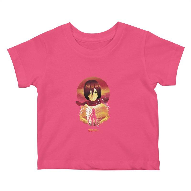 MIkasa Sunset Kids Baby T-Shirt by dandingeroz's Artist Shop