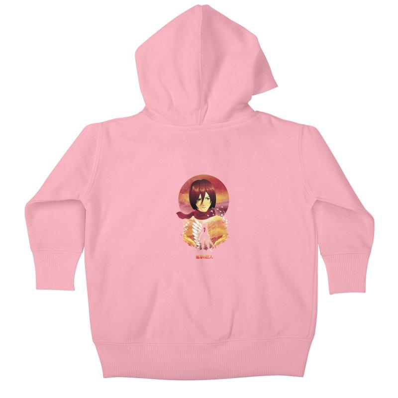 MIkasa Sunset Kids Baby Zip-Up Hoody by dandingeroz's Artist Shop