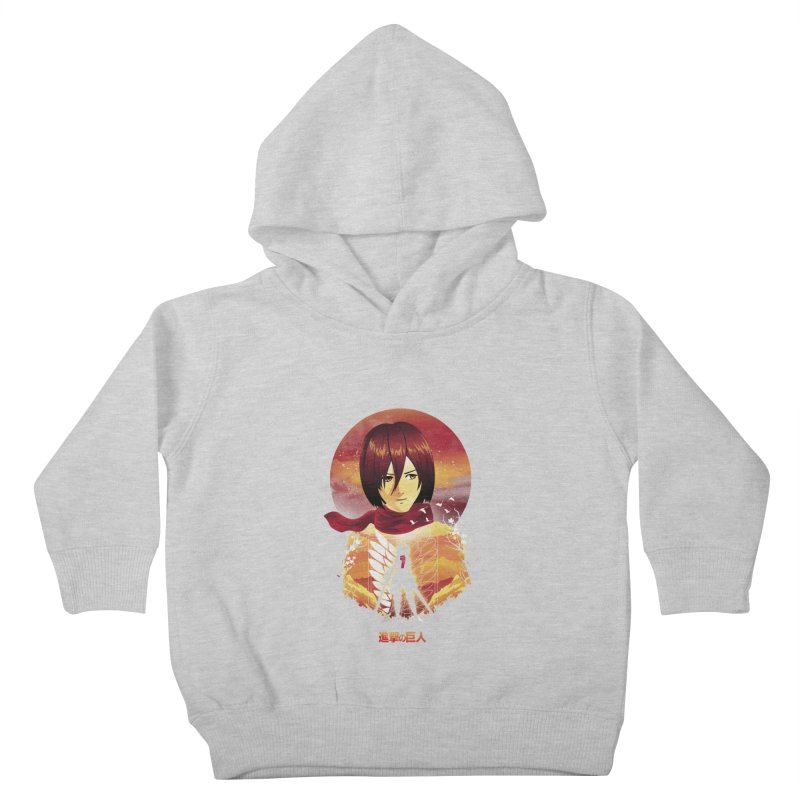 MIkasa Sunset Kids Toddler Pullover Hoody by dandingeroz's Artist Shop
