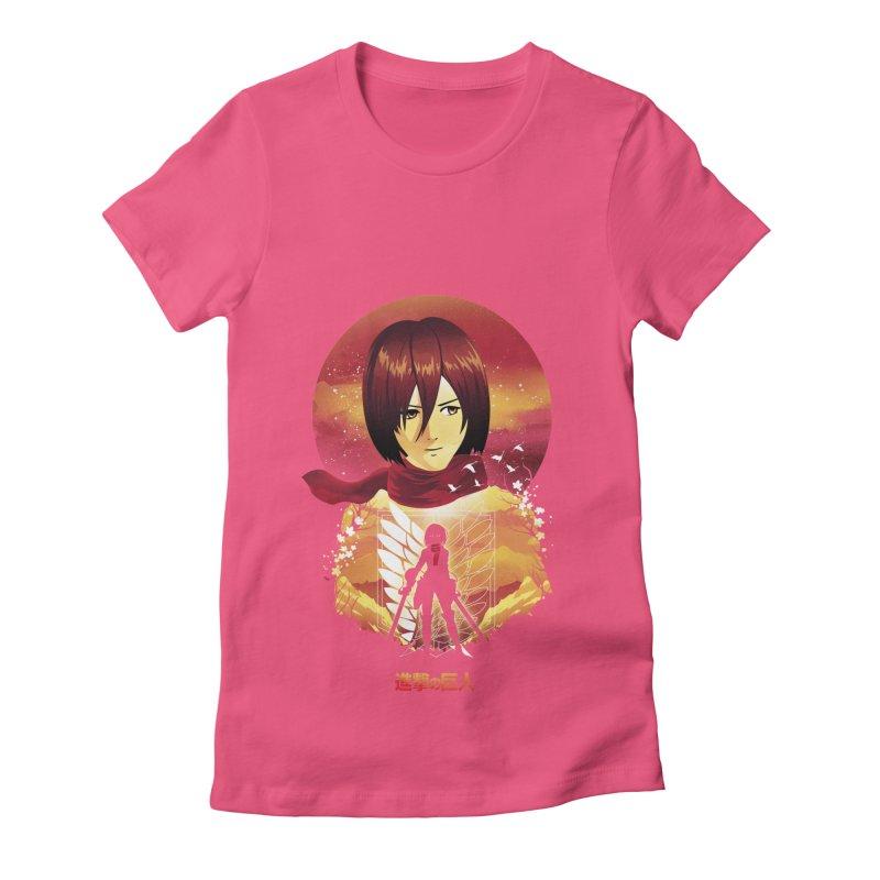 MIkasa Sunset Women's T-Shirt by dandingeroz's Artist Shop