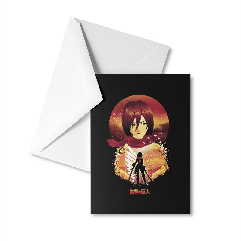 MIkasa Sunset Accessories Greeting Card by dandingeroz's Artist Shop