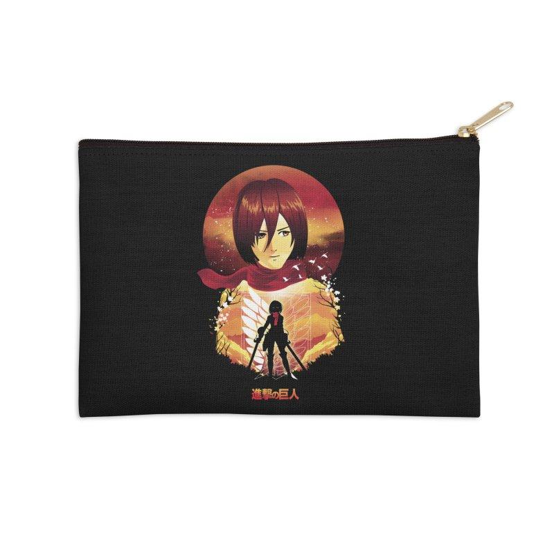 MIkasa Sunset Accessories Zip Pouch by dandingeroz's Artist Shop