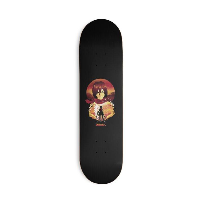 MIkasa Sunset Accessories Skateboard by dandingeroz's Artist Shop
