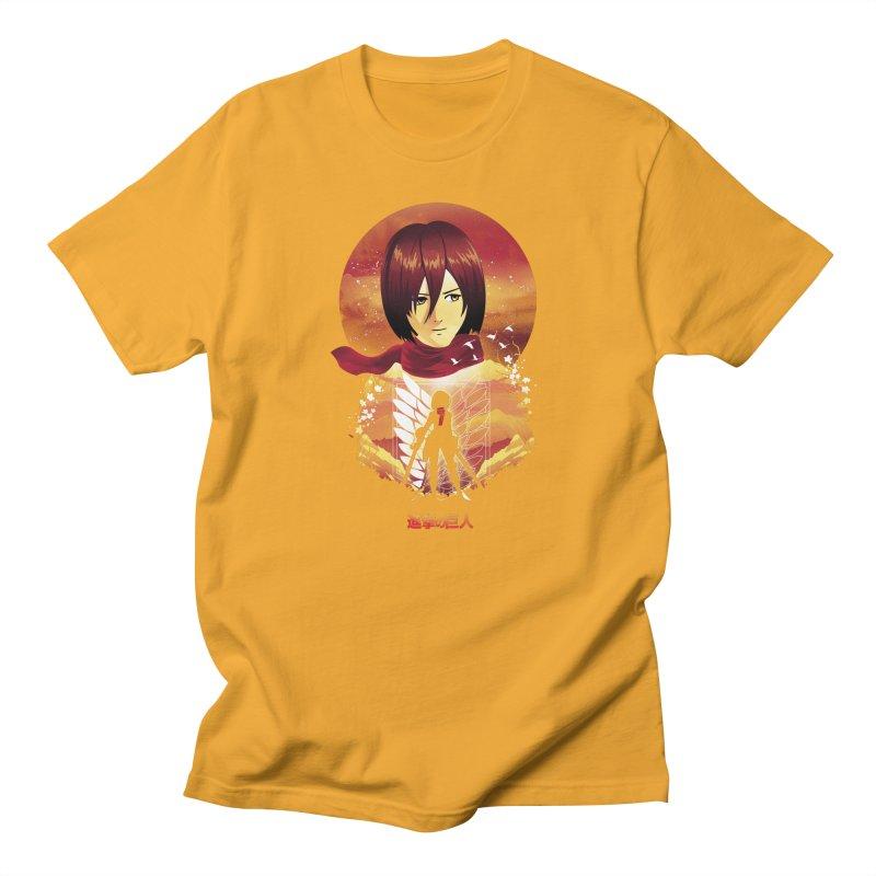 MIkasa Sunset Men's T-Shirt by dandingeroz's Artist Shop