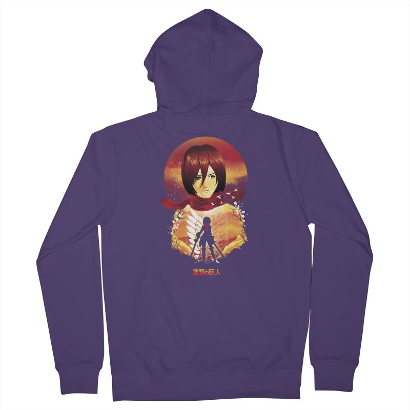 MIkasa Sunset Women's Zip-Up Hoody by dandingeroz's Artist Shop